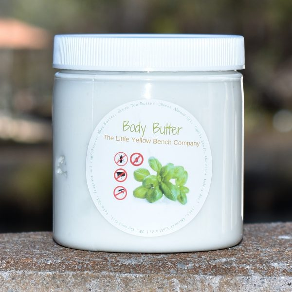 Natural Shield Body Butter, keeps biting bugs away